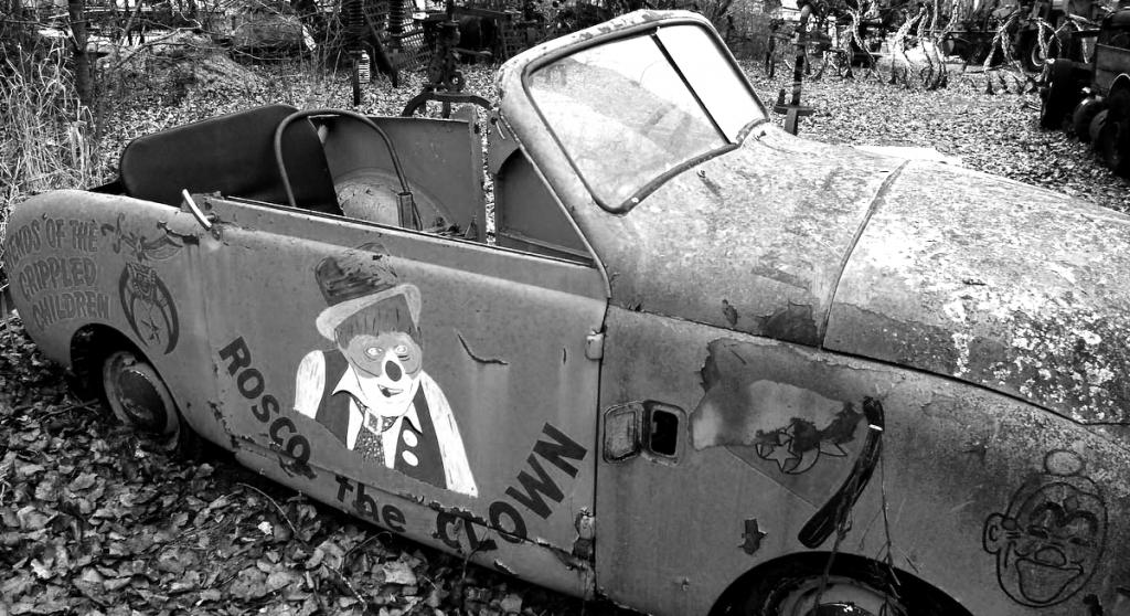 A tired, old clown car