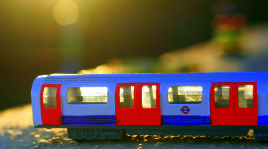 A toy underground train