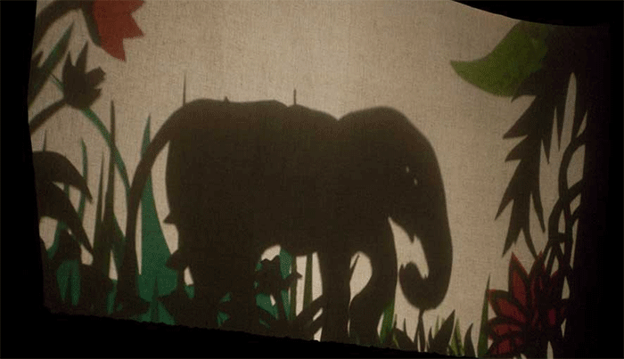 The shadow of an elephant.