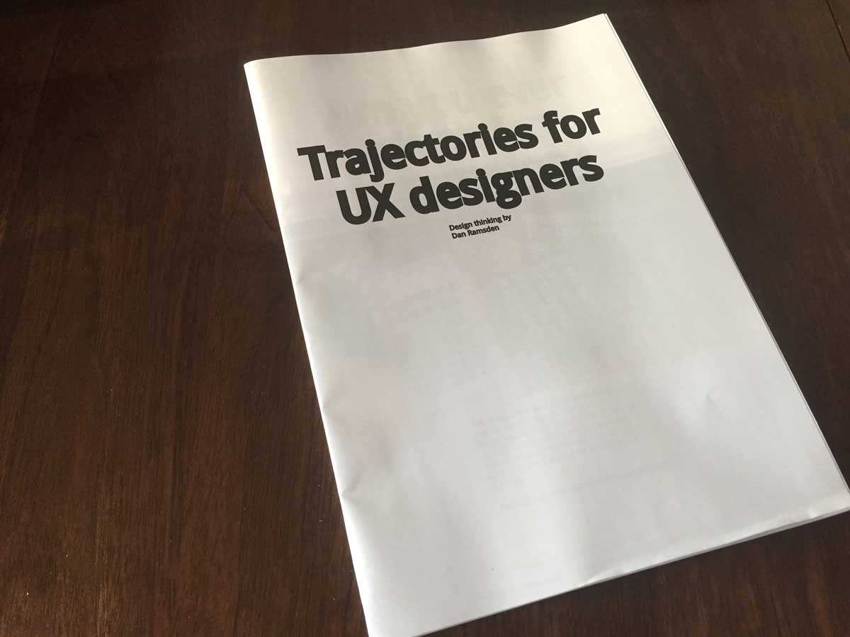 Trajectories for UX designers