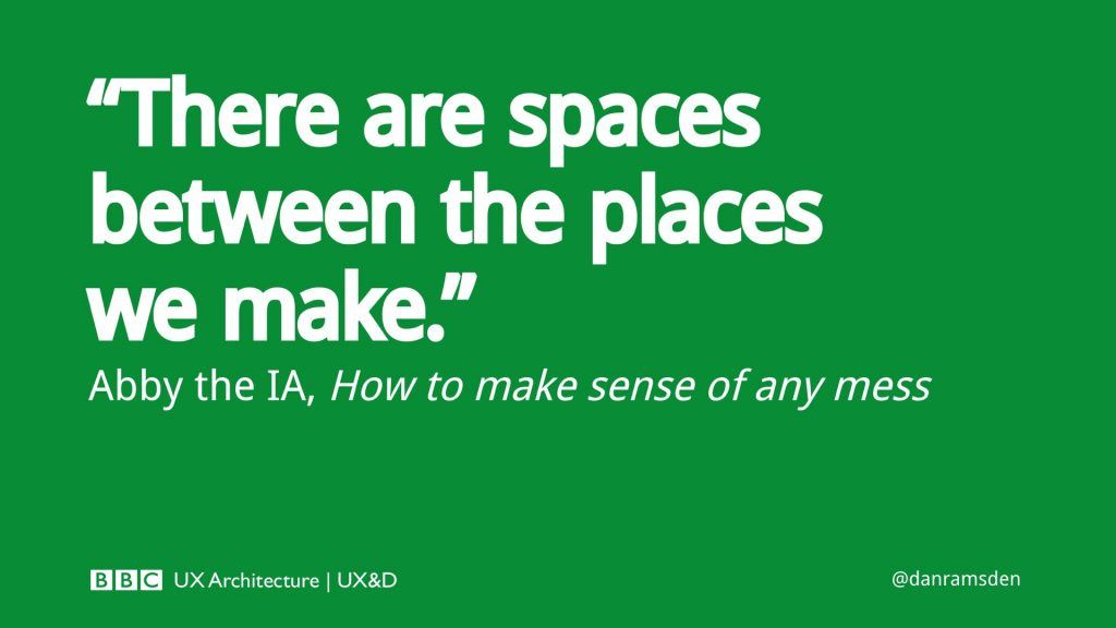 There are spaces between the places we make - Abby the IA