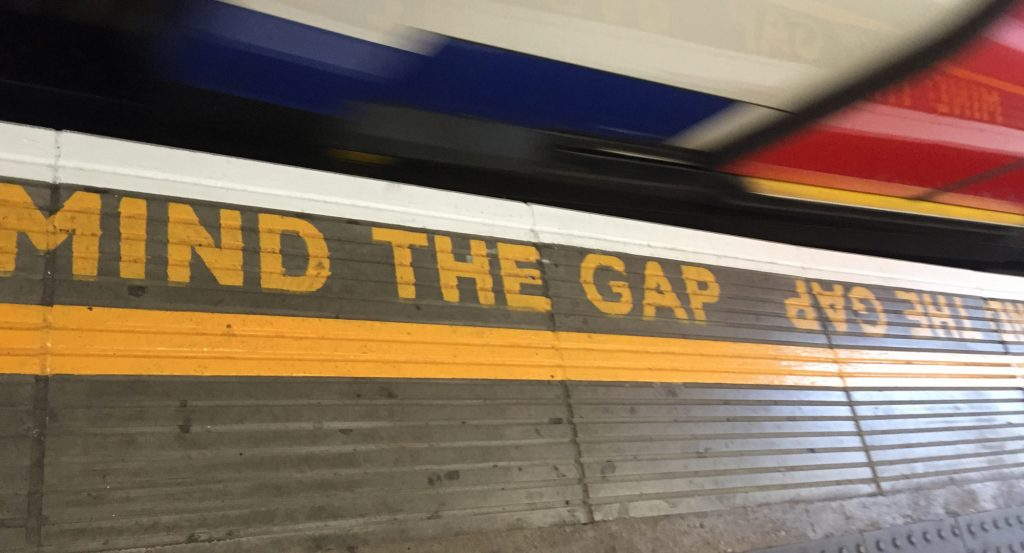 Mind the gap - a London underground train